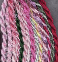 Pink colors of EdMar Rayon Thread